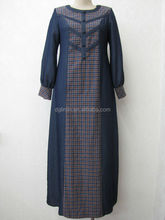 bulue placket front kuwaiti abaya