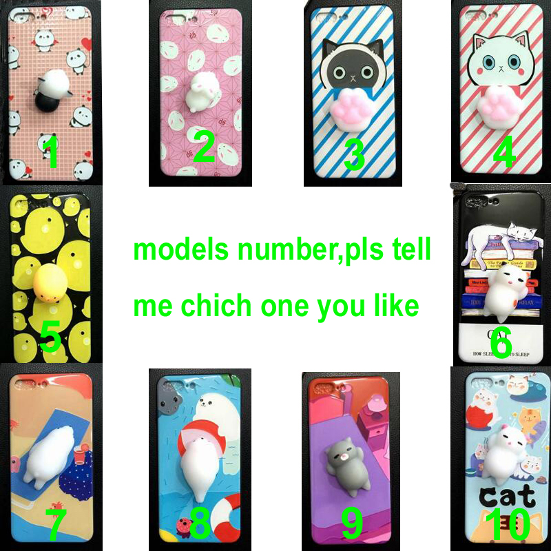 very hot selling china squishy animals cat phone case for most of the phone modals