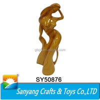 Elegant asian sexy girl home decoration items resin craft