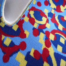 100% Polyester Printed Bus Seat Fabric Free Sample Available With Foam Backing by China Factory Supplier