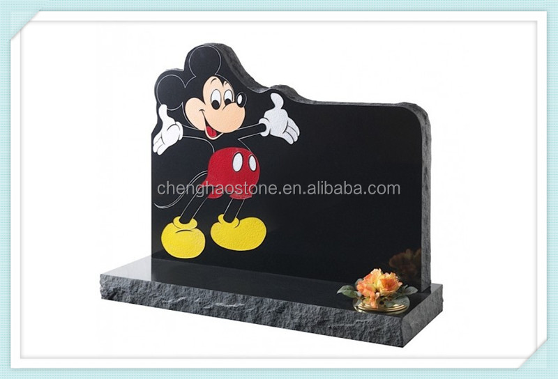 Mickey Mouse Shape Headstone for child headstone