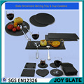 Hot sell natural restaurant rectangle round slate placemat cheese dinner plates