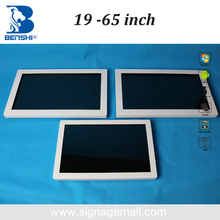 65 inch wall mount touch screen all-in-one computer for school