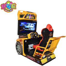 SQV Kids/adult driving run video electronic coin operated simulator arcade 4d racing car game machine