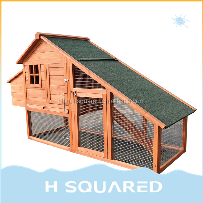 Outdoor Indoor Chicken Coop Hutch Rabbit Hen Guinea Pigs House With Nest House Run Cage