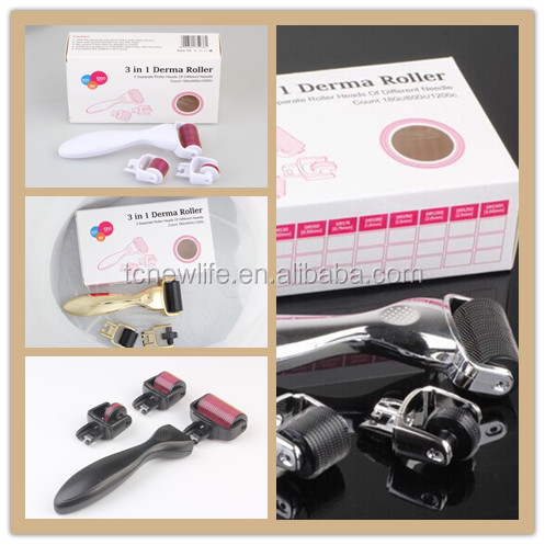 NL-301 Popular derma roller microneedle skin rejuvenation face whitening facial kit derma roller
