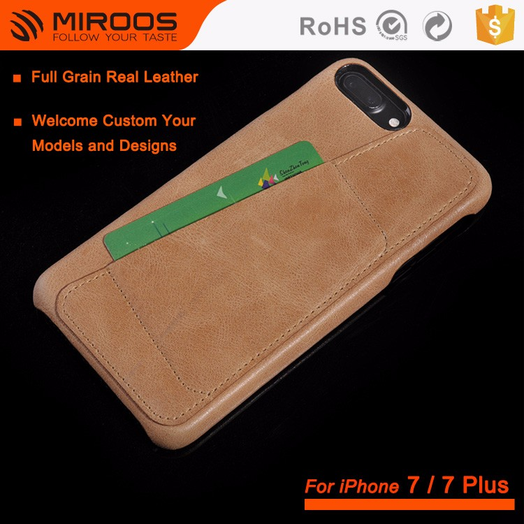 Newest Fashion Stylish Real Leather Mobile Phone Cover Cases For iPhone 7 6 With Card Slot