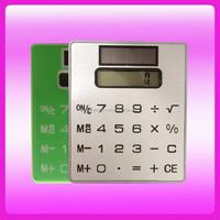 Mini Slim Card Shape Solar Power Touch Screen Pocket Calculator