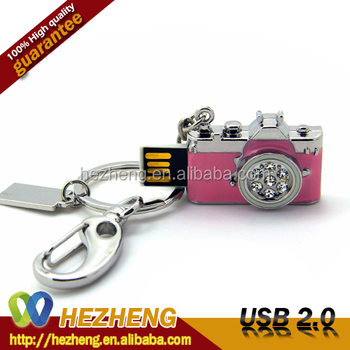 Pink USB Thumb Drive 16GB Mini Camera Flash Drive Customzied Logo
