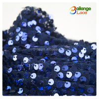 Colorful design fabric Bailange fashionable beautiful sequin embroidery velvet fabric