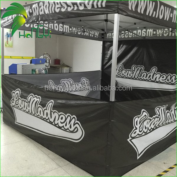 Portable advertising supplies 3*3 m black fold tent