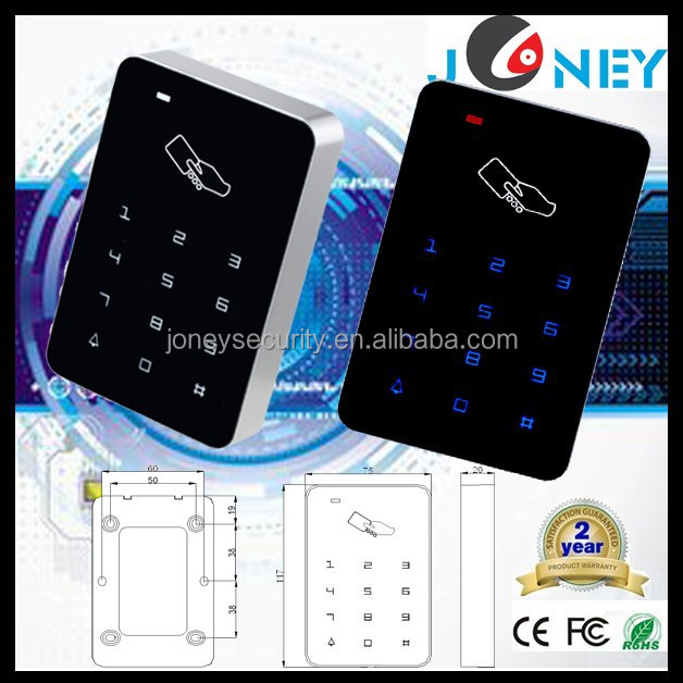 Touch keypad single door rfid access controller