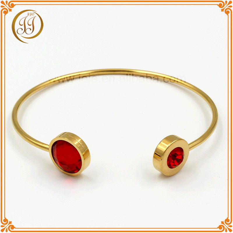 Wholesale fashion charm red crystal gold bracelets for women