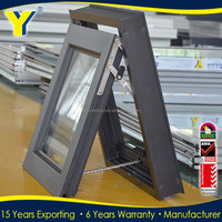 Double Glazed Sound Proof Aluminum Windows With Built In Blinds Made in China