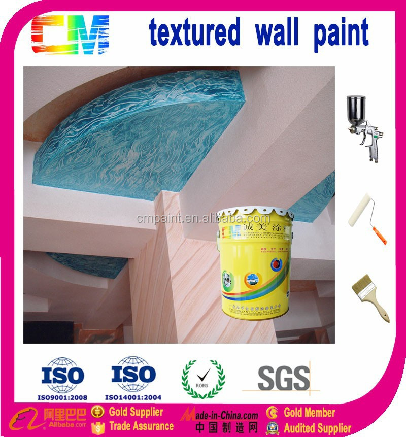 building materials waterbased indoor sand stone design wall textured paint