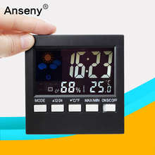 CX-503 LCD Multi function 12/24 hour clock Temperature And Humidity Meter