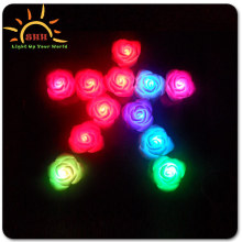 light up LED rose flowers pot colorful self flashing with factory price