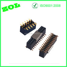 10 pin smt type metal cap female header connector