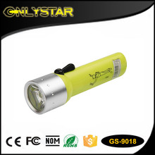 Onlystar GS-9018 1W led scuba diving flashlight torch underwater submarine light waterproof diving torch