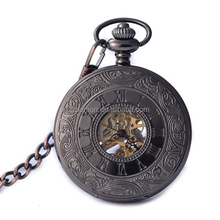Classical Stainless Steel Mechanical Pocket Watch