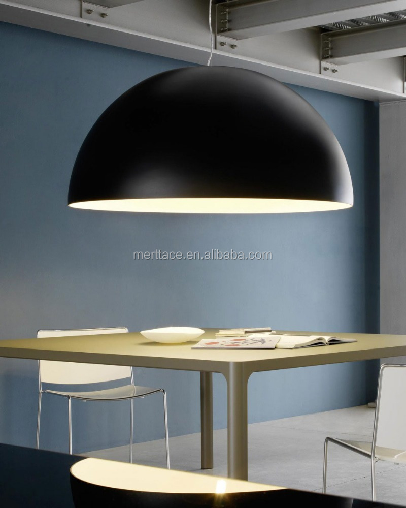 Restaurant Iron round large half moon suspension lamp pendant light