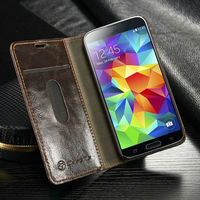 New Product for Samsung S5 mini wallet leather case cover/Ultra thin case for Galaxy S5 mini wallet pouch