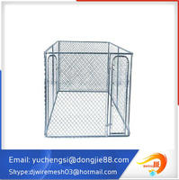 dog kennel with veranda/dog panels/dog fences