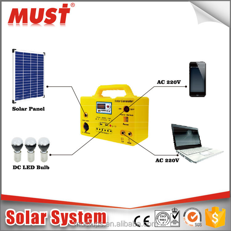 normal specification and home used 10W 20W 30W 50W DC solar system with radios/ USB/ chargers