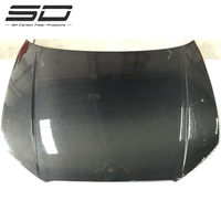 RS Style 3K Rear Carbon Fiber Engine Hood Car Front Bonnet For Audi A3/S3