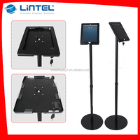 advertising iPad floor stand black for trade show exhibition