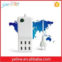 Multi port Usb chargers with 1m/2m/3m/ line,6 Port Hur for mobile phone