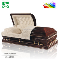 alibaba chinas funeral equipment JS-A2302 adult couch casket