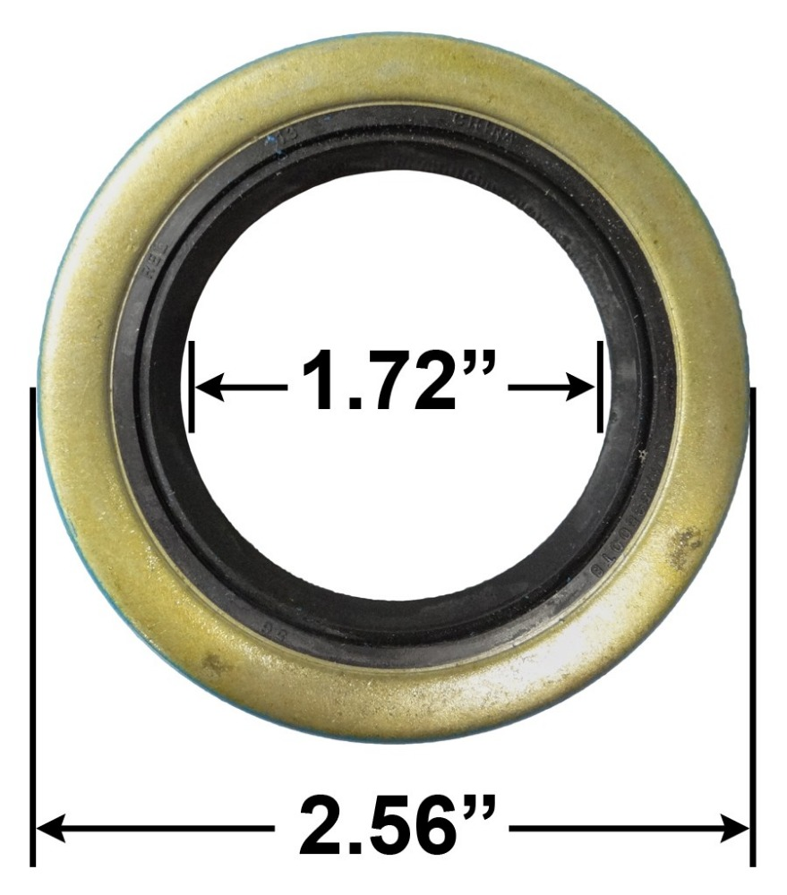 "10-19 Tailer <strong>Bearing</strong> Seals 171255TB GS-1719 DL ID 1.72"" X OD 2.56"" for 3500lb <strong>Axle</strong>"