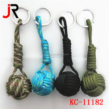 paracord keychain with fishing kits, monkey fist ,Christmas gift