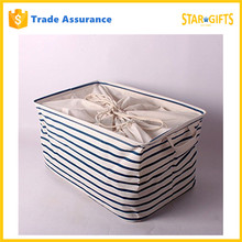 Custom Collapsible Laundry Drawstring Storage Bag Waterproof With PU Coating