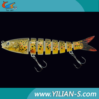 Free fishing tackle sample! new 3D eyes segmented fishing lures wholesale