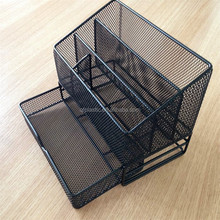 Office metal storage basket wire basket with drawer