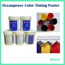 Water based paint colorant / Pigment paste / colored paint for modern decoration