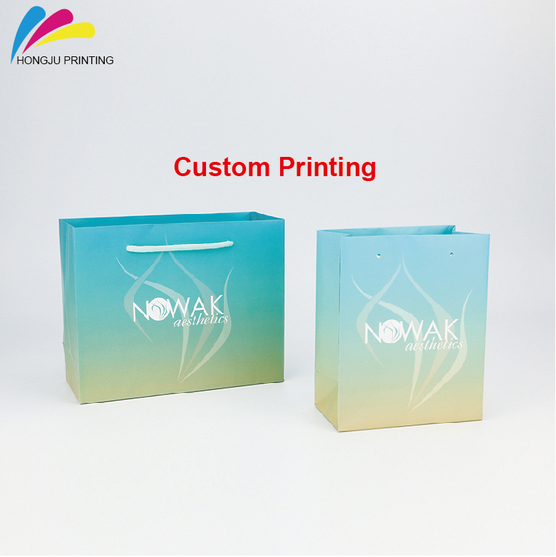 customized logo printing wholesale factory paper gift bag with handles