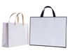 Cheap recycle customized logo OEM offset printed lower price white paper bag