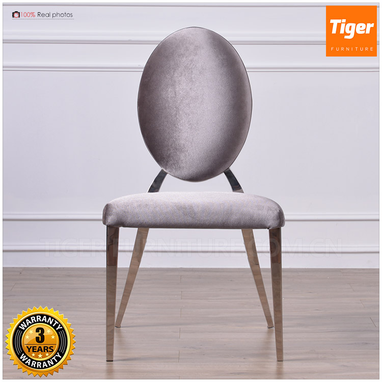 2017 new guangdong luxury furniture velvet wedding stainless steel frame chair for dining room