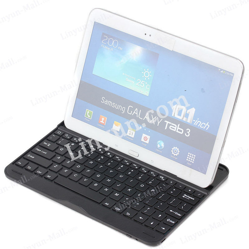 AAA Quality Wireless Bluetooth Keyboard + Case Cover Stand For Samsung Galaxy Tab 3 10.1""