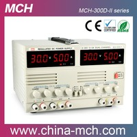 60W 24/30v 2amp Linear power supply dual channels 3 digits Read buttons DC power supply MCH-302DII