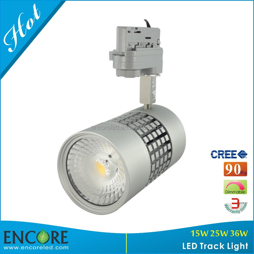 New COB LED Track Light with 36W Silver Aluminum Hot at HONG KONG Lighting Fair