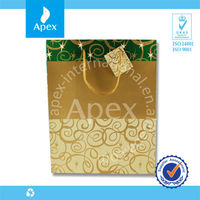 Drawstring fashion gift paper shopping bag