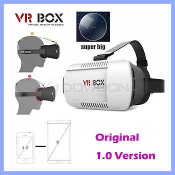White Universal Google Cardboard VR BOX 1 Virtual Reality Game Movie Head Mount 3D Glasses