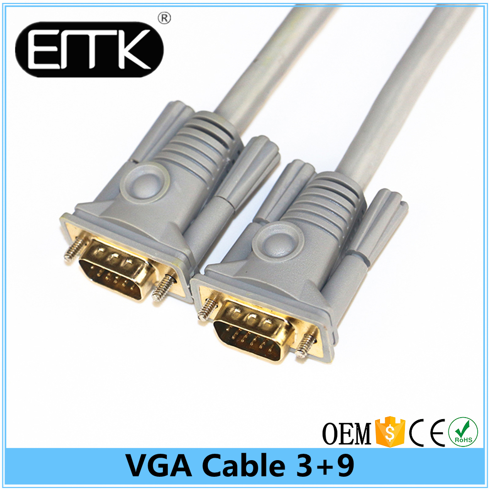 2017 new design hot selling 30 meters scart to vga converter cable vga 3+9