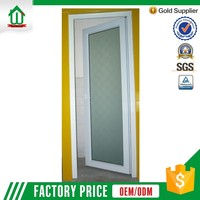 Direct factory price pvc bathroom plastic door