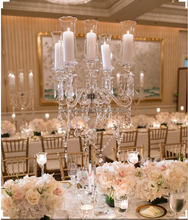 MH-TZ0379 glass candelabras wedding vases centerpieces table