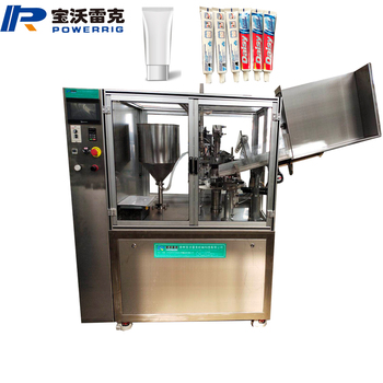Automatic Sunscreen tube filling sealing machine Suntan Lotion Filling Machinery